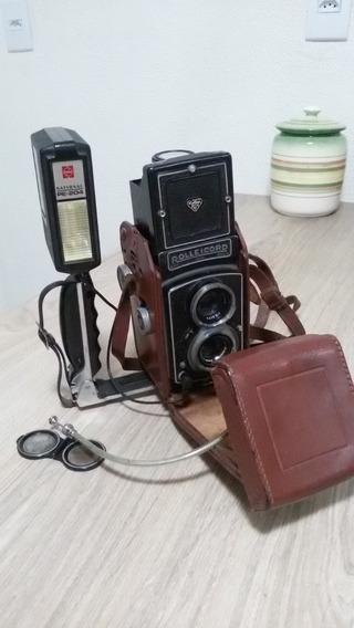 Máquina Fotográfica Raridade Rolleicord.