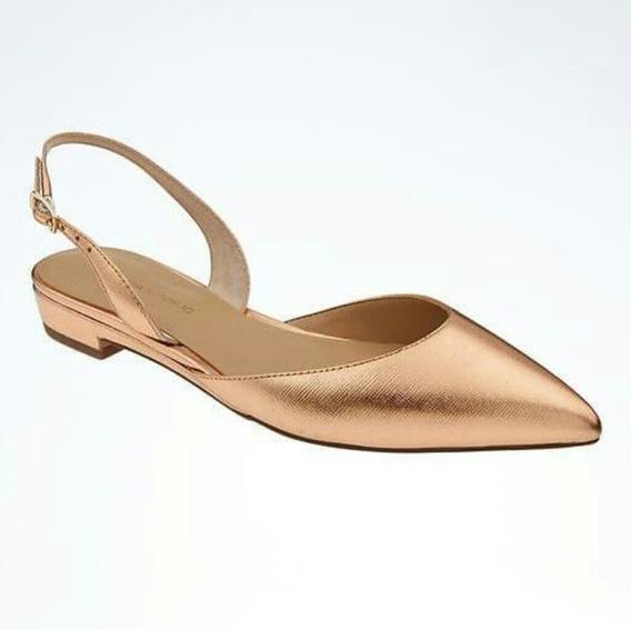 Zapatos Banana Republic Nuevos Color Oro Rosa 6us Mx 23 Piel
