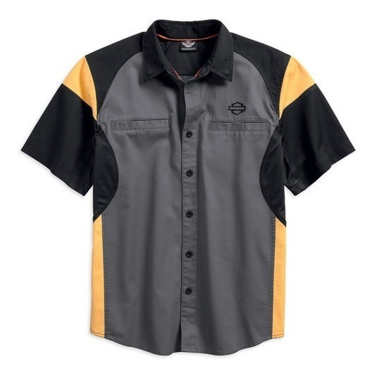 Harley Davidson Camisa Performance Vented Gray Original Imp