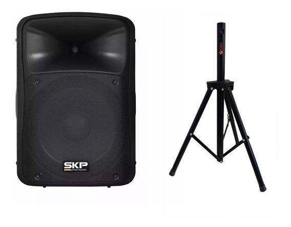 Caixa Amplificada Ativa 250 Wrms Toca Passiva Skp Bluetooth