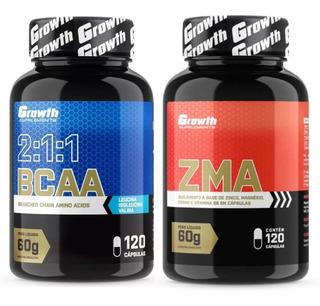 Zma + Bcaa Growth Kit 240 Cápsulas Original