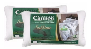Combo X 2 Almohadas Cannon Sublime 70x40 Hipersoft Alta Dens