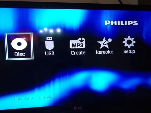 Reproductor De Dvd Philips Con Control Remoto Y Microfono