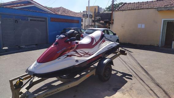 Jet Ski Sea Doo Gti 130 2009 Vermelho Aceito Moto Carenada