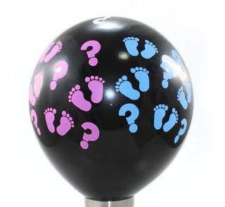 Balão - Bexiga - Chá De Revelação Preto - 25 Unidades