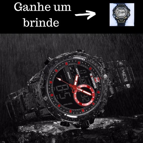 Relógio Masculinos Naviforce 9120 Luxo Esportivo - Original