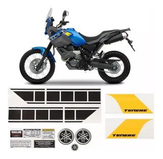 Kit Adesivos Yamaha Xt 660z Tenere 660 2012 Azul Tnr12