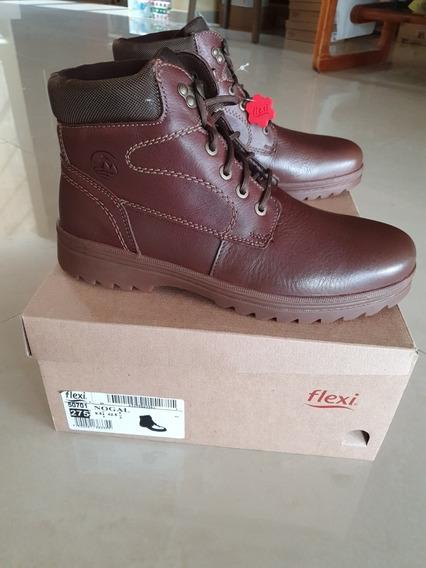 Flexi Bogota 50701 Nogal Zapatos De Cordones Oxford Para Hom