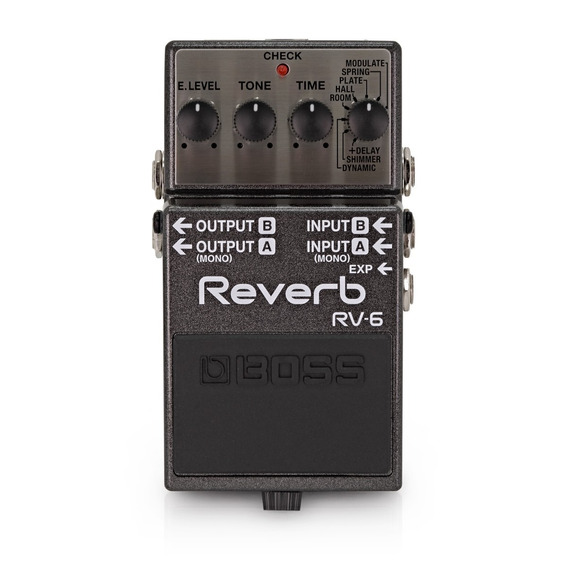 Pedal Digital Reverb Boss Rv-6 Para Guitarra + Fonte Hayonik