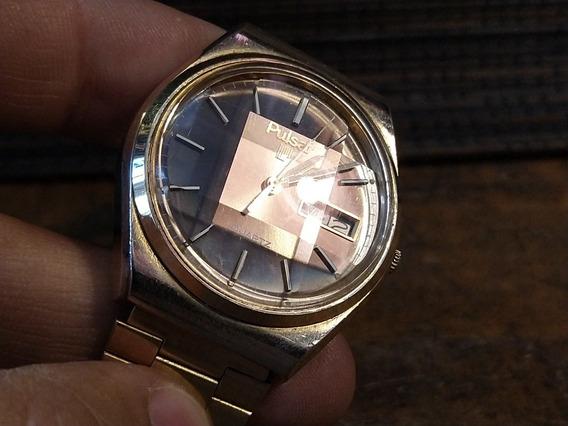 Reloj Pulsar Antiguo Años 80 Dorado De Cuarzo
