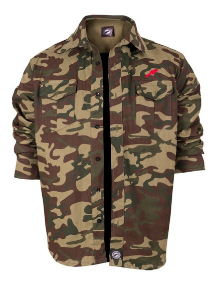 Camisas Hombre Chaqueta Forever Grunge Camuflada