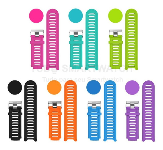 2 X Pulseiras De Silicone Colors Para Relógio Garmin Forerunner 910xt