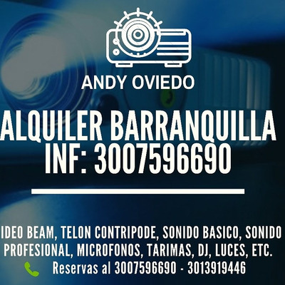 Alquiler Video Beam Barranquilla 3007596690