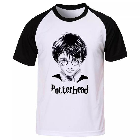 Camiseta Raglan Harry Potter Hp Potterhead Grifinória C