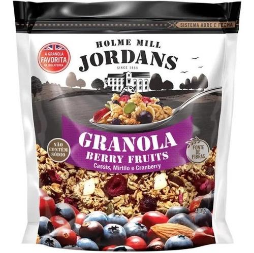 Imagem 1 de 5 de Granola Cereal Jordans Berry Fruits Mirtilo Cranberry 400g