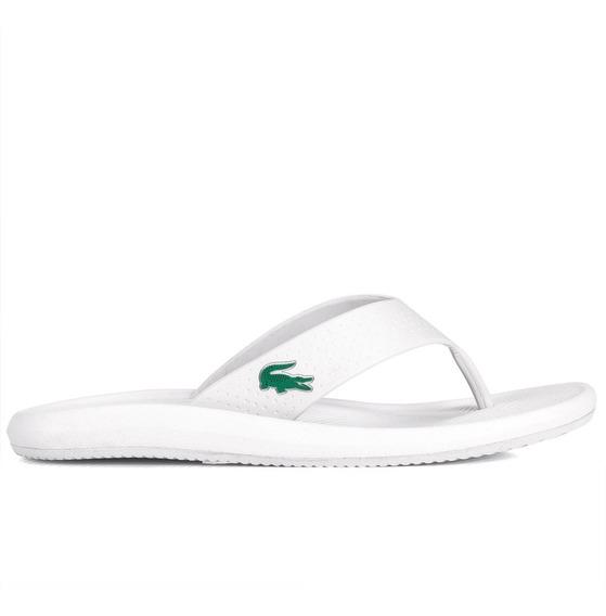 Chinelo Lacoste Croco Sandal 219 1 Cma Branco