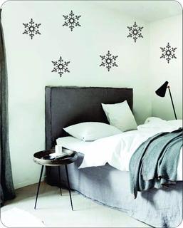 Plancha Copo De Nieve, Vinilo Decorativo, Hogar Decoracion