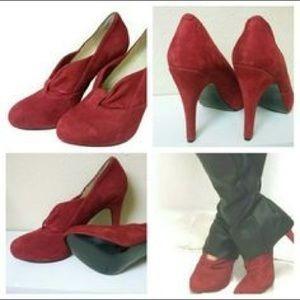 Zapatos/ Botines Rojos Nine West Modelo Verbeniao Numero 27