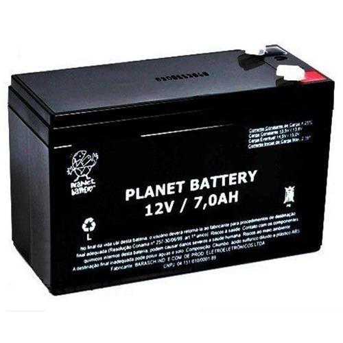 Bateria Selada 12v 7a Planet Para Alarme E Cerca Elétrica