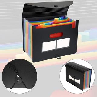 Carpeta Organizador De Archivos Rainbow Expandible Portátil