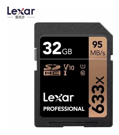 Cartao Sd Lexar Pro 32gb 95mb/s 633x Novo - Entrega Hoje