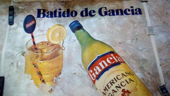 Antiguo Poster * Gancia Batido * Publicidad Años 70