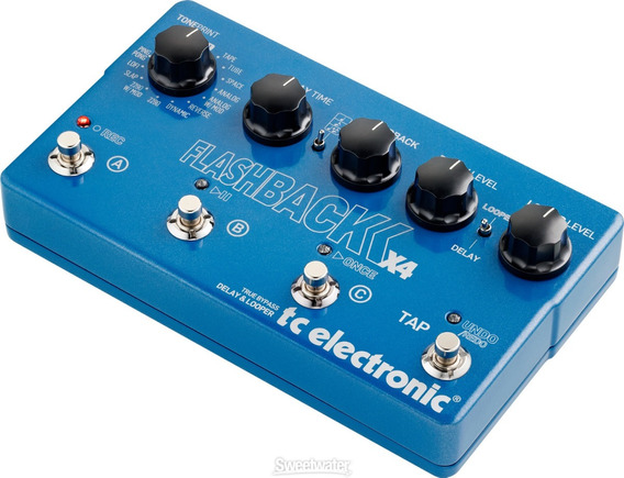 Pedal Guitarra Tc Electronic Flashback X4 Delay And Looper *