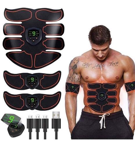Estimulador Muscular Pantalla Lcd Abdomen Brazos Recargable