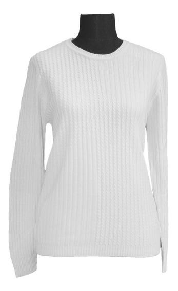 Sweater Tejido Mujer Cuello Redondo 3020