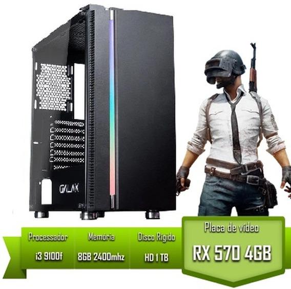 Pc Gamer Intel I3 9100f Rx 570 4gb 8gb 2400mhz Hd 1tb
