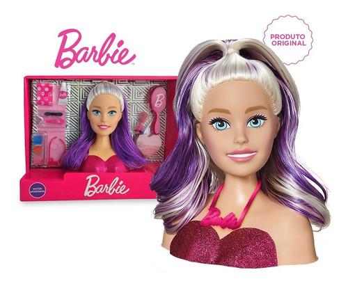 Imagem 1 de 9 de Boneca Barbie Busto Styling Hair Make Pentear + Acessórios