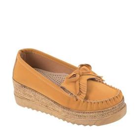 Zapato Confort Shosh 824893 Altura 5.5 Cm Plantilla De Piel