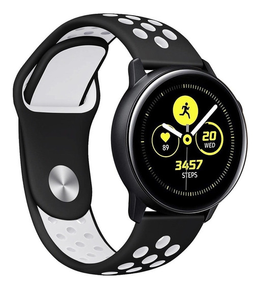 Correa Transpirable Premium Para Galaxy Watch Active + Mica