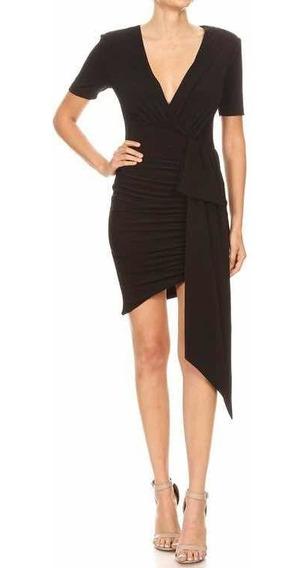 Vestido Negro Semi Brillo Elegancia Y Confort