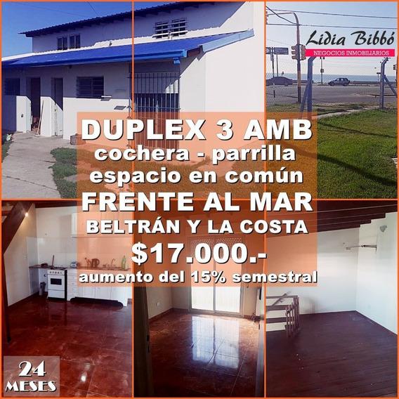 24 Meses - Frente Al Mar Duplex 3 Amb Con Cochera