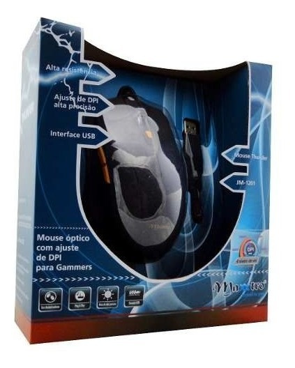 Mouse Usb Gamer Thunder Jm 1201 Bk Preto Maxxtro