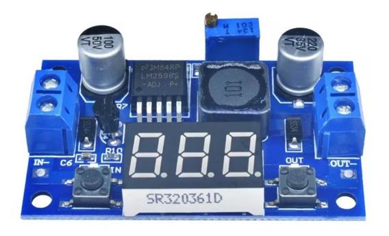 Regulador De Tensão Ajustável Lm2596 Com Display