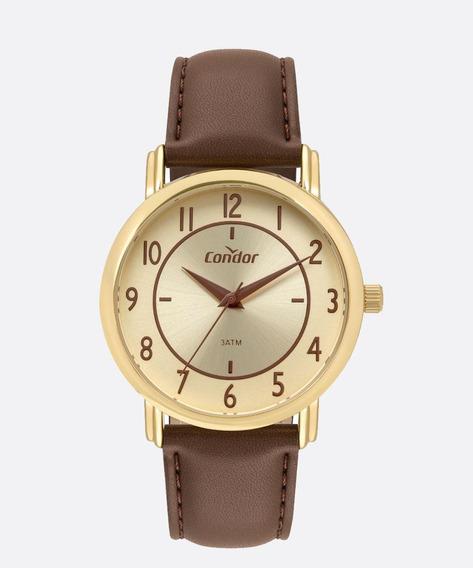Relógio Condor Masculino Preto Couro Co2035mrz/2x