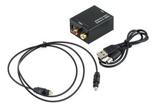 Conversor Audio Digital Toslink Smart Tv A Parlante Rca Plug