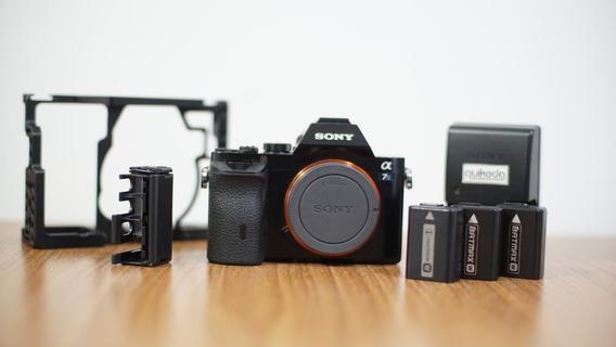 Câmera Sony Alpha A7s + 3 Baterias + Cage De Metal