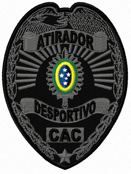 Patch Bordado Atirador Desportivo - Cac_68x90 (tático)