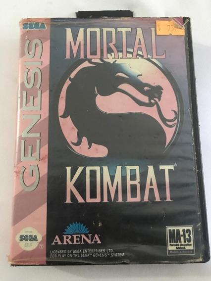 Mortal Kombat Com Caixa Mega Drive