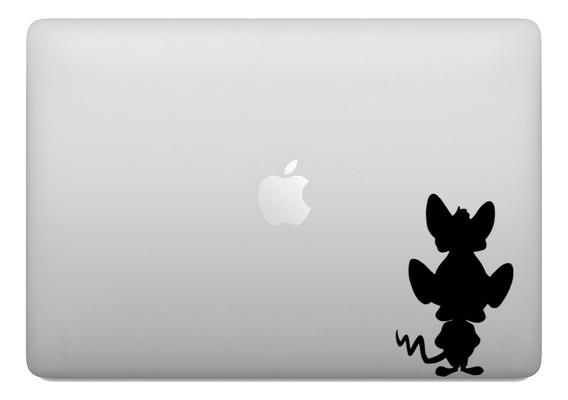 Adesivo Tablet Notebook Ratos Pink E O Cerebro Macbook