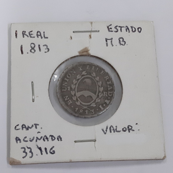 Moneda De 1 Real 1813 (muy Buen Estado)
