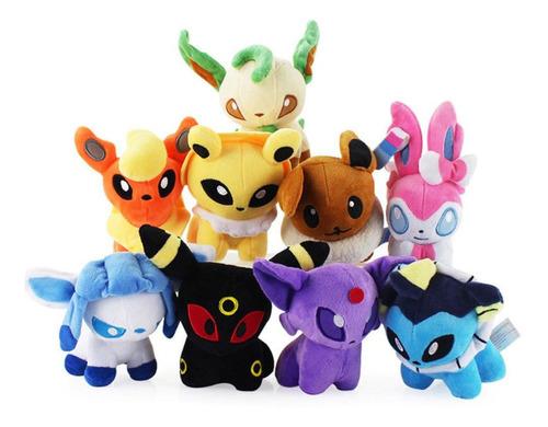 Peluche Pokemon Eevee - Diferentes Evoluciones