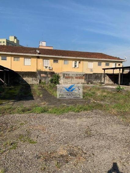 Área Para Alugar, 3000 M² Por R$ 12.000,00/mês - Macuco - Santos/sp - Ar0003