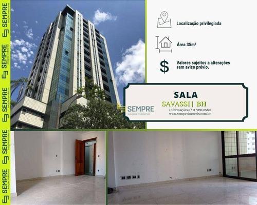 Imagem 1 de 21 de Sala Para Alugar, 35 M² - Savassi - Belo Horizonte/mg - Sa0066