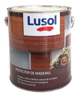 Lusol Impregnante Protector De Madera Satinado 4 L Prestigio