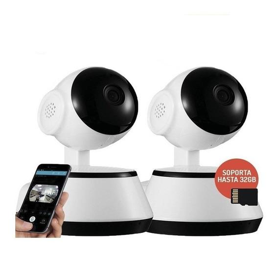 Kit 2 Camara Seguridad Ip Wifi Inalambrica Infrarrojo Hd 360