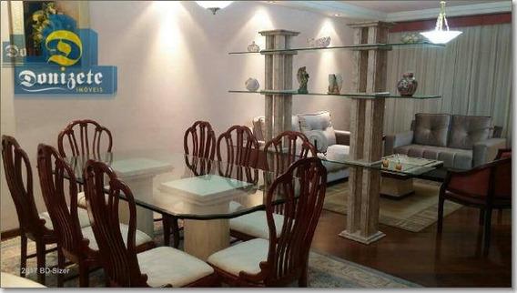 Apartamento Com 3 Dormitórios À Venda, 197 M² Por R$ 818.900,10 - Vila Bastos - Santo André/sp - Ap0172
